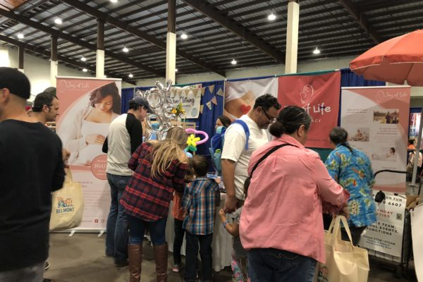Many people visit Joy of Life booth - Joy of Life Surrogacy