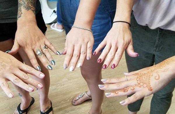 Women getting their nail manicure - Joy of Life Surrogacy